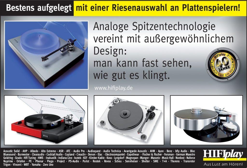 HIFIplay - Ihr HiFi- und High End-Spezialist in Berlin: Beste Plattenspieler