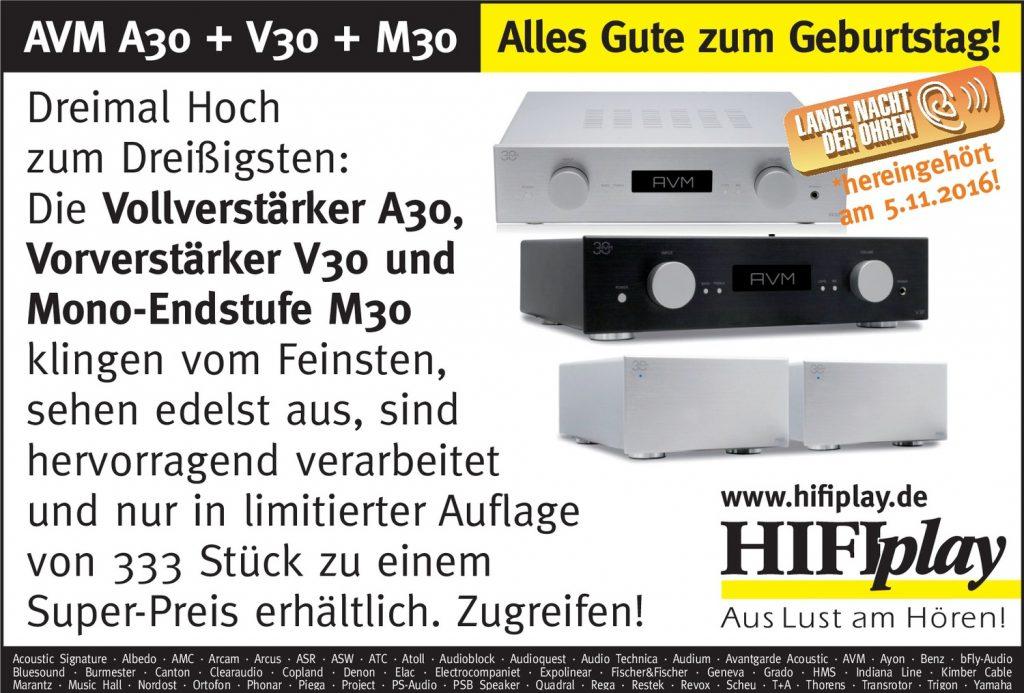 HIFIplay - Ihr HiFi- und High End-Spezialist in Berlin: AVM A30 + V30 + M39