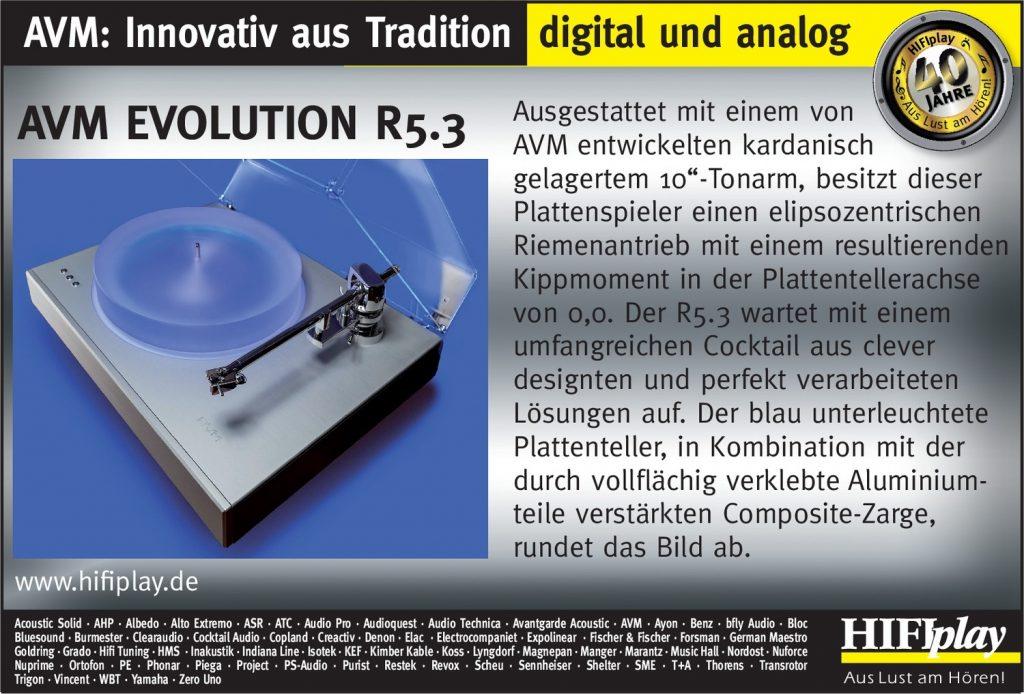 HIFIplay - Ihr HiFi- und High End-Spezialist in Berlin: AVM Evolution R5.3
