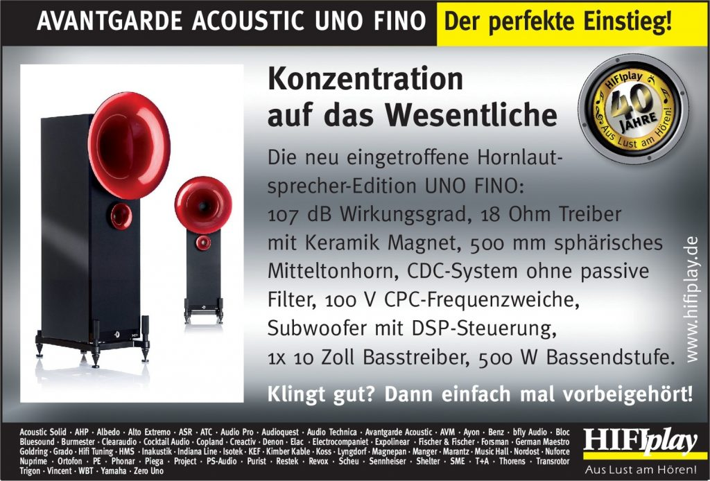 HIFIplay - Ihr HiFi- und High End-Spezialist in Berlin: Avantgarde Acoustic Uno Fino