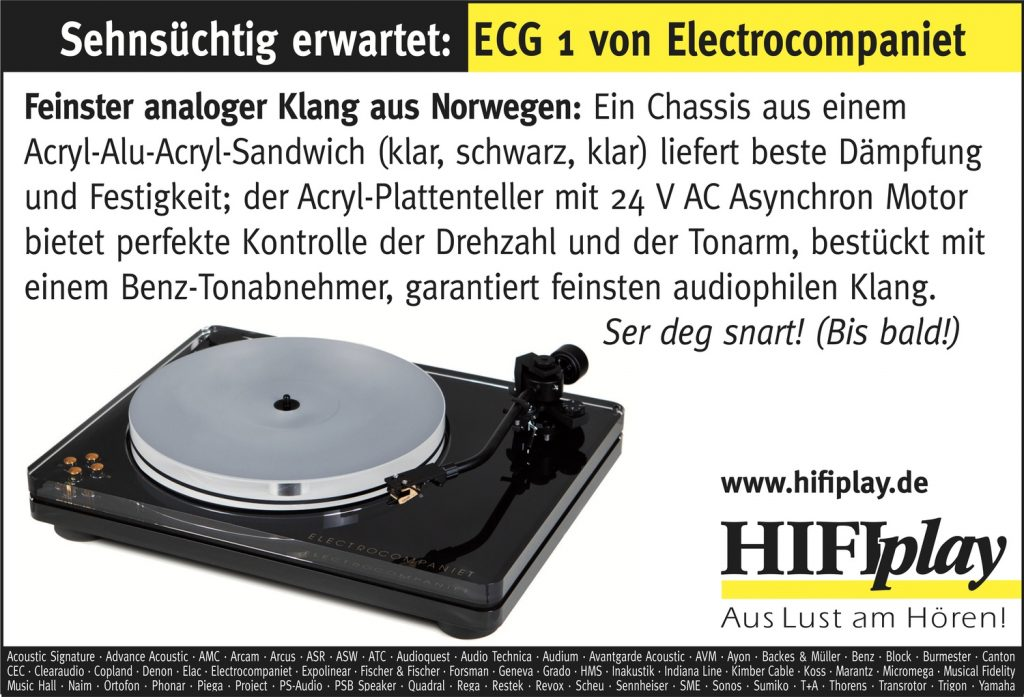 HIFIplay - Ihr HiFi- und High End-Spezialist in Berlin: Electrocompaniet ECG 1