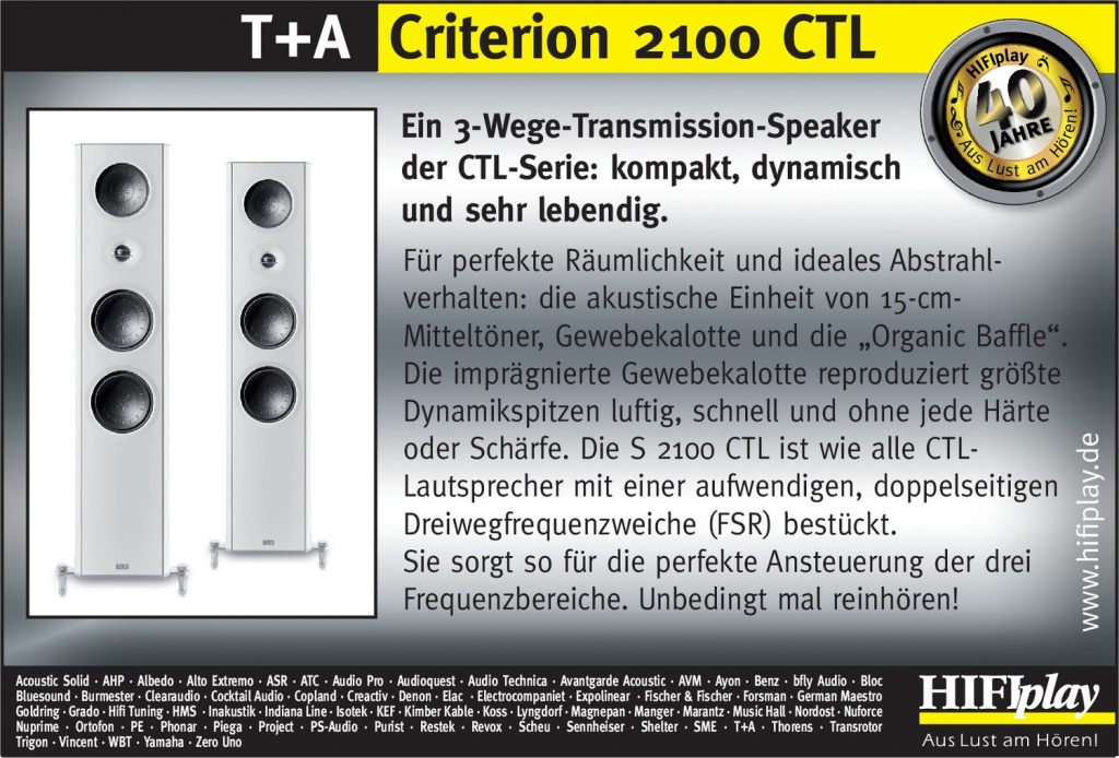 HIFIplay - Ihr HiFi- und High End-Spezialist in Berlin: T+A Criterion 2100 CTL