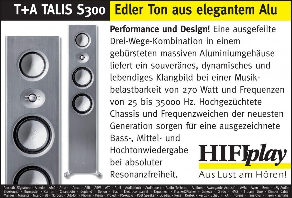 HIFIplay - Ihr HiFi- und High End-Spezialist in Berlin: T+A TALIS S300