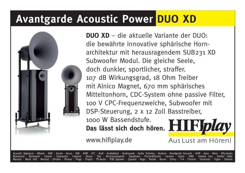 Avantgarde Acoustic Duo XD_Fenster